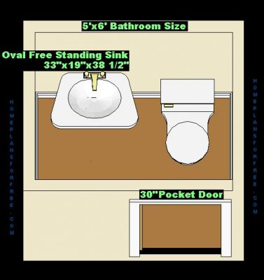 Bathroom on Free Bathroom Plan Design Ideas   Bathroom Design 5x6 Size Small 5 X6