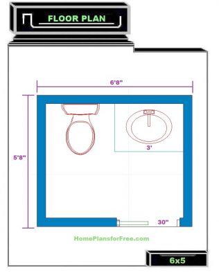 free bathroom plan design ideas - small bathroom designs