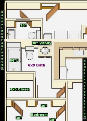 Jack and jill bathroom design layout popular house plans for Bathroom designs 9 x 9