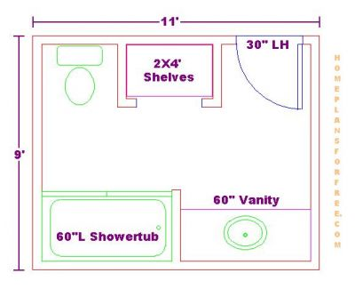 Bathroom Vanity Plans on Bathroom Floor Plans Free 9x11 Bathroom Floor Plan With Vanity Cabinet