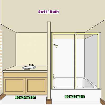 Click to view full size image for 9x11 bathroom ideas