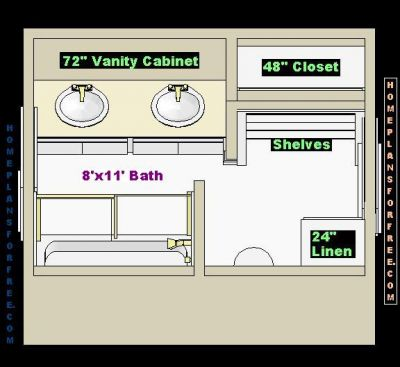 Bathroom designs and floor plans for 8 x 10 for Bathroom designs 8 x 10