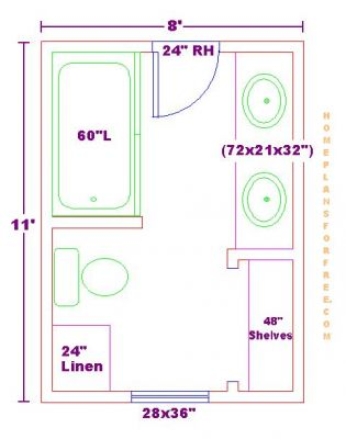 Designbathroom Online Free on Free Bathroom Plan Design Ideas   Bathroom Design 8x11 Size Free