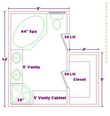 Master Bathroom Floor Plans Via