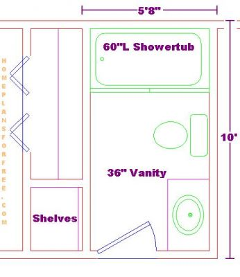 Free bathroom plan design ideas bathroom design 5 39 8 x10 for Bathroom design 11 x 5