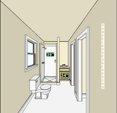 Free bathroom plan design ideas jack and jill 6x12 for Bathroom designs 8 x 12