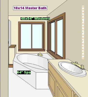 Bathroom vanities on 10x10 bathroom layout http www homeplansforfree
