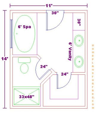 bathroom and closet floor plans |  plans/free 10x16 master