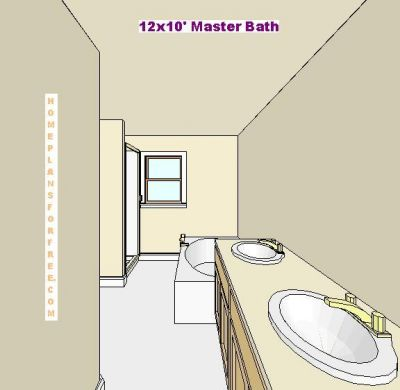 Free bathroom plan design ideas master bathroom plans for 12x10 deck plans