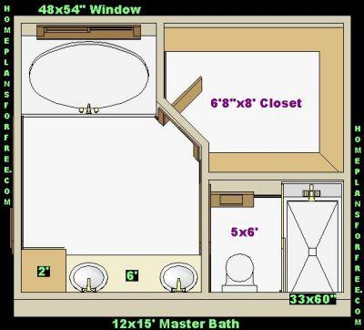 Free bathroom plan design ideas master bathroom plans for Bathroom design 5x6