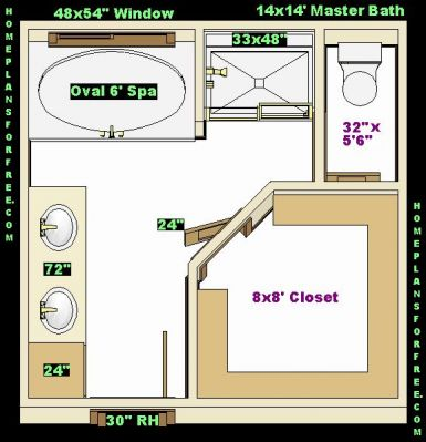 master bathroom ideas design with walk in closet 14x14 free master