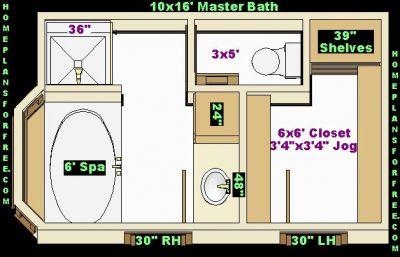 free bathroom plan design ideas - master bathroom design