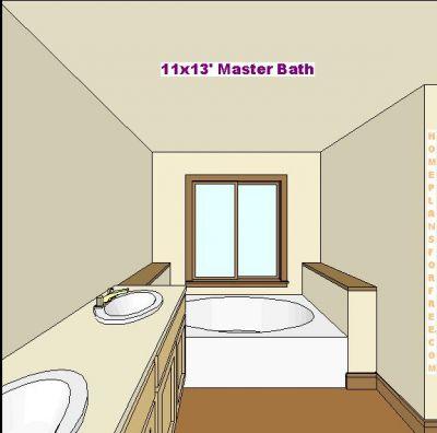 Free bathroom plan design ideas master bathroom design for Normal window design
