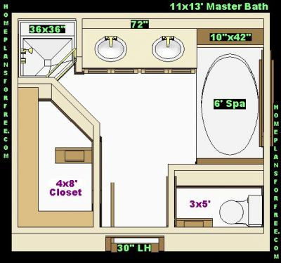 Bathroom Home Design on Free Bathroom Plan Design Ideas   Master Bathroom Plans Free 11x13