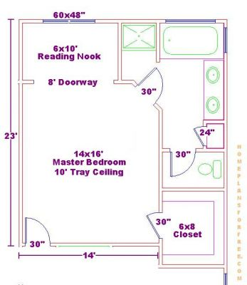 Click to view full size image Master bedroom and bathroom plans