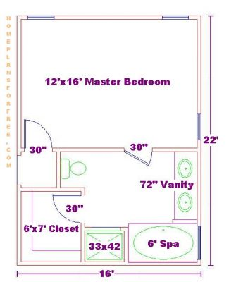 Free bathroom plan design ideas master bathroom design 10 39 6 x16 39 master bedroom ideas design Master bedroom bathroom layout