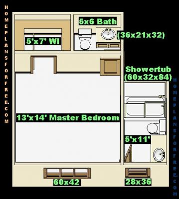 "Free Bathroom Plan Design Ideas - Master Bathroom Design 5'8""x11 with"