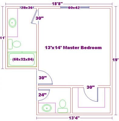 Bathroom plan design ideasmaster bathroom plans 10x14 for 10x14 bedroom