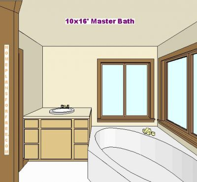 Click to view full size image for 9 x 10 master bathroom