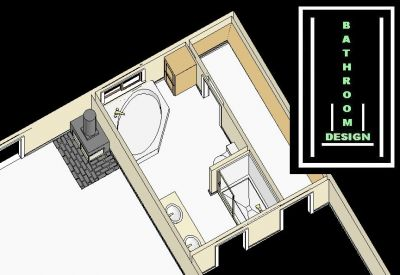 Bathroom Corner Sink on Bathroom Remodeling Sample Plan Design Idea Showing A Whirlpool Corner