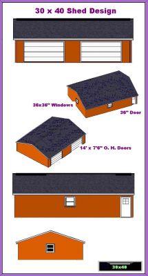 Storage Build 20 X 40 Shed Plans